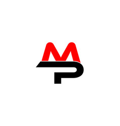 mp letter logo vector image