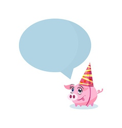Pig in holiday hat with massage area for your text vector image