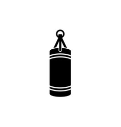 punching boxing bag vector image