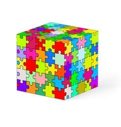Puzzle kube 04 vector