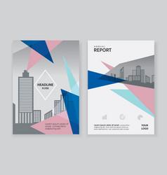 quartz triangle shape annual report brochure vector image