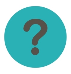 Question flat grey and cyan colors round button vector