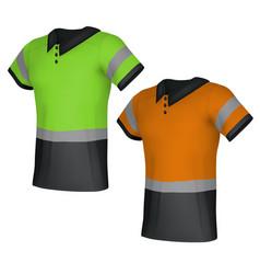 Safety reflective polo shirts vector