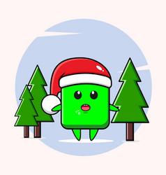 Santa claus in green square shape vector