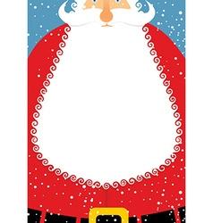 Santa Claus with beard Christmas postcard Big vector image vector image