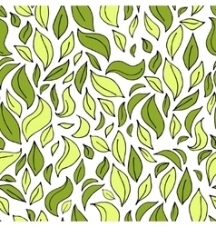 seamless leaf pattern with leaves silhouette vector image
