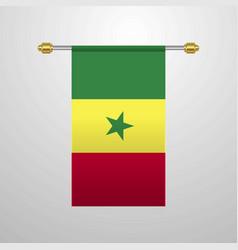 Senegal hanging flag vector