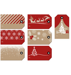 set christmas and new year gift tags vector image