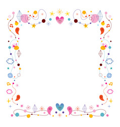 simple frame design elements vector image
