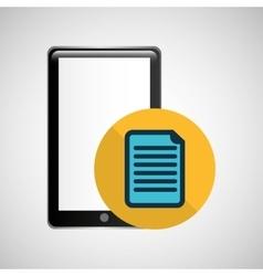 Smartphone black paper graphic vector