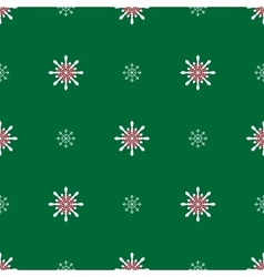 Snowflakes on a green background vector image