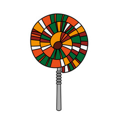 spiral lollipop icon image vector image