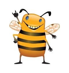 Standing bee vector