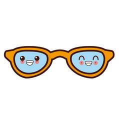 sunglasses fashion lens cute kawaii cartoon vector image