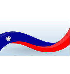 taiwan waving national flag modern unusual shape vector image