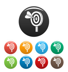 target solution icons set color vector image