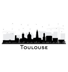 toulouse france city skyline silhouette with vector image