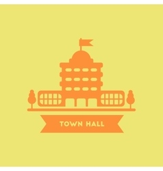 Town hall building vector
