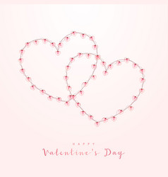 valentine 2 decorative heart frame with realistic vector image