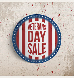 veterans day sale circle realistic sign vector image