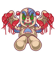 voodoo doll mascot logo design vector image