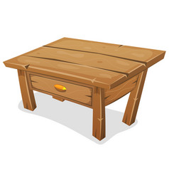 wood little table vector image