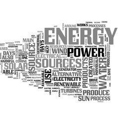 alternative energy source pros and cons text word vector image