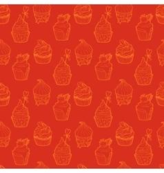 cupcake seamless pattern vector image vector image