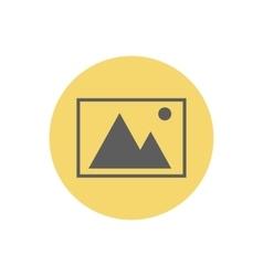 Landscape picture icon vector image