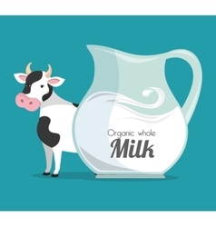 milk natural product design vector image