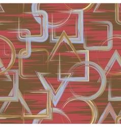 Seamless geometric grange hand drawn paint brash vector image vector image