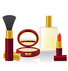 set cosmetics 01 vector image vector image