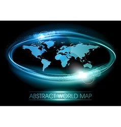 world abstract shine blue vector image vector image