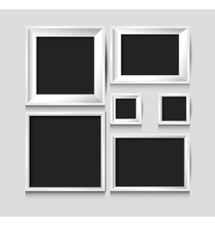 blank picture frame template set vector image