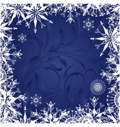 frosty patterns vector image