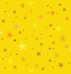 golden stars pattern swatch vector image