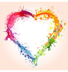 grunge valentines day heart vector image