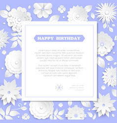 happy birthday - modern colorful vector image