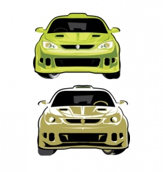 rally car vector image vector image