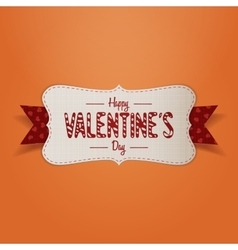 Realistic Banner with Happy Valentines Day Text vector image