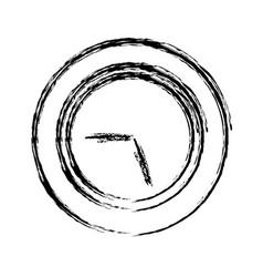 time clock symbol vector image vector image