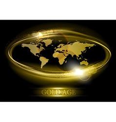 world abstract shine gold vector image