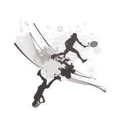 abstract blot tennis background vector image