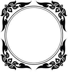 circle frame of thai pattern vector image