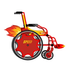 High-speed wheelchair Chair for disabled with vector image vector image