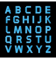 Paper blue color alphabet vector image