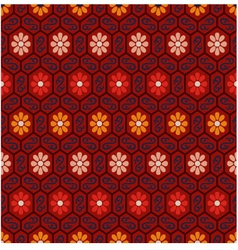 seamless floral chinese pattern vector image