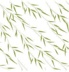 seamless pattern of bamboo leaves vector image vector image