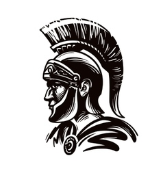 Spartan warrior gladiator or roman soldier vector