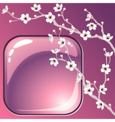 tree blossoms vector image